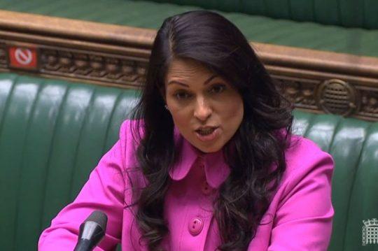 Priti Patel in Parliament