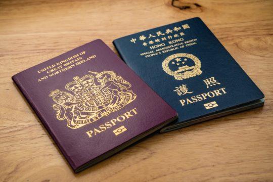 british passport and hong kong passport